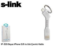 S-LİNK IP-305 IPHONE 5/6 TO USB ÇEVİRİCİ KABLO ( BEYAZ MAVİ PEMBE)