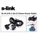 S-LİNK SL-PL270 1,5MT 3X0,75MM L TİP POWER KABLO - Thumbnail