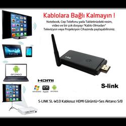 S-LİNK SL-W10 KABLOSUZ HDMI GÖRÜNTÜ AKTARICI